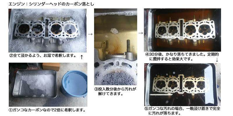 無公害 濃縮型 天然ミネラル油脂分解洗浄剤 『ウェブ・テック・アール』汚れ落とし例